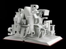 Книга и алфавит Стоковая Фотография RF
