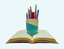 Книга и канцелярские принадлежности Стоковое Изображение