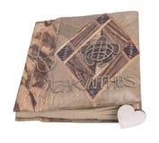 Книга и сердце Стоковая Фотография