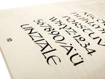 Книга каллиграфии, письма Стоковое Фото
