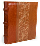 Книга кожи Брайна на backround wite стоковое фото rf