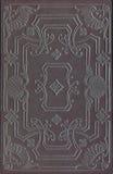 Книга кожи черноты Vinage или крышка журнала Стоковое Изображение