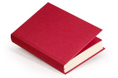 Книга красного вина пустая - путь клиппирования Стоковое Фото
