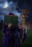 Книга магических заклинаний стоковое изображение rf