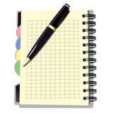 Книга назначения с ручкой Стоковые Изображения RF