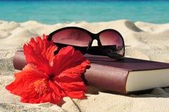 Книга на пляже Стоковые Изображения