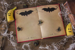 Книга на хеллоуин стоковая фотография rf