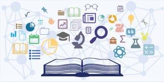 Книга образования горизонтальная Стоковое Изображение RF