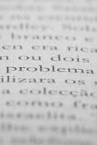 Книга открытая с проблемой слова f в португалке Стоковое Изображение RF