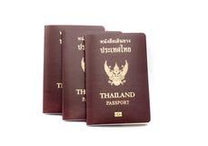 Книга пасспорта Таиланда на белизне Стоковые Изображения
