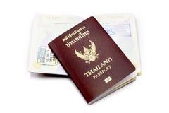 Книга пасспорта Таиланда на белизне Стоковые Изображения RF