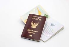 Книга пасспорта Таиланда Стоковые Фотографии RF