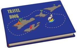 Книга перемещения с картами иллюстрация штока