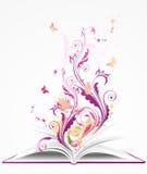 книга предпосылки открытая Стоковая Фотография RF