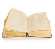 книга предпосылки изолировала старую белизну Винтаж Стоковое Фото