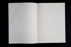 Книга пустой страницы Стоковые Изображения