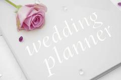 Книга плановика свадьбы Стоковое Изображение