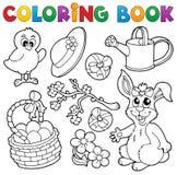 Книга расцветки с темой 6 пасхи Стоковые Изображения RF