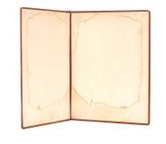 Книга сбора винограда открытая Стоковые Фотографии RF