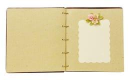 Книга сбора винограда открытая Стоковое Изображение