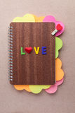 Книга сердец на день валентинки Стоковое фото RF