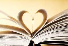 Книга с сердцем стоковое изображение rf