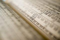 Книга таблицы вычисления Стоковое Фото