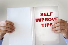 Книга улучшения собственной личности поддельная Стоковое Изображение
