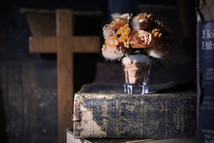Книга, чтение, библия Стоковое Фото