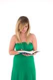 Книга чтения женщины Стоковые Фото