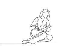 Книга чтения молодой женщины бесплатная иллюстрация