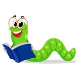Книга чтения червя Стоковые Изображения