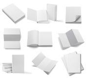 Книга шаблона чистого листа бумаги учебника тетради листовки белая Стоковое фото RF