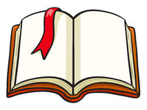 Книга шаржа с красной закладкой Стоковое Фото