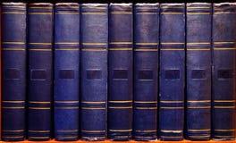 Книги архива старые винтажные Стоковая Фотография RF