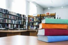 Книги в библиотеке Стоковое Изображение