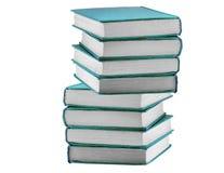 Книги в голубой крышке Стоковые Изображения