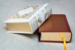 2 книги в красивых вязках Стоковые Фото