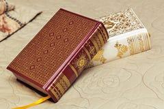 2 книги в красивых вязках Стоковая Фотография RF