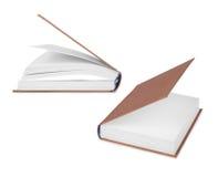 2 книги в различных положениях на белой предпосылке Стоковые Фото