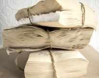 Книги года сбора винограда натюрморта стоковое фото