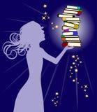 книги держа женщину Стоковое фото RF
