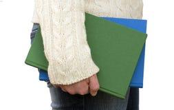 книги держа сторону вашим Стоковая Фотография RF