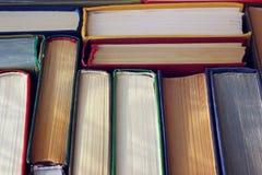 Книги закрывают вверх, взгляд сверху Стоковое Изображение