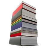 книги закрывают штабелируют вверх иллюстрация штока