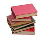 книги изолировали старую белизну кучи Стоковое Изображение