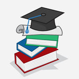 Книги диплома иллюстрация вектора