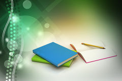 Книги и карандаш, концепция образования Стоковое Изображение RF