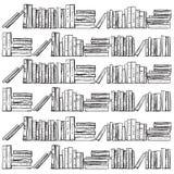 Книги нарисованные рукой, иллюстрация вектора Стоковые Фото