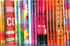 Книги на дисплее в bookstore Стоковое Фото
